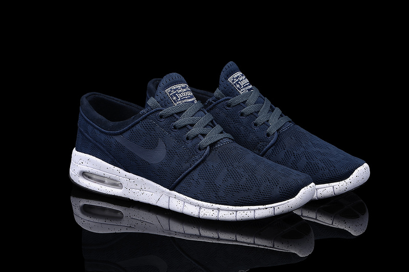 Nike SB Stefan Janoski Max Light Dark Blue White Men Shoes
