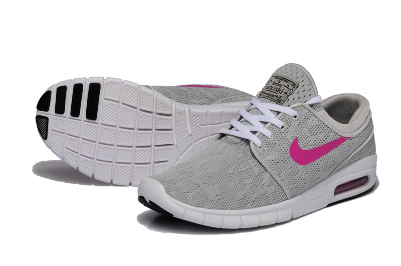 Nike SB Stefan Janoski Max Light Grey Peach Red Shoes