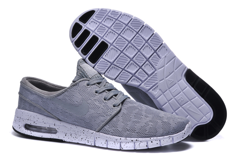 Nike SB Stefan Janoski Max Light Grey White Men Shoes