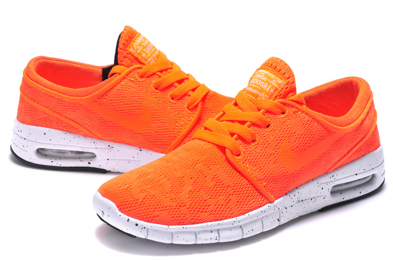 Nike SB Stefan Janoski Max Orange Red White Men Shoes