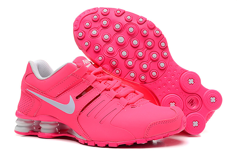 Women Shox Current All Pink Silver Logo Shoes
