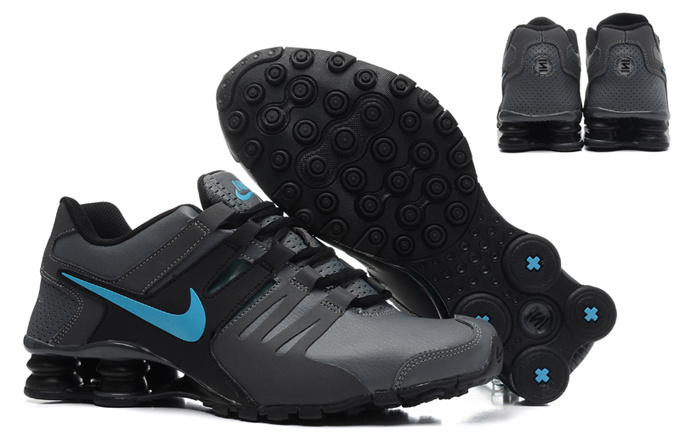 Nike Shox Current Shoes Black Blue Logo