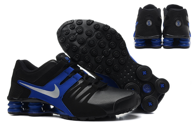 Nike Shox Current Shoes Black Blue Silver