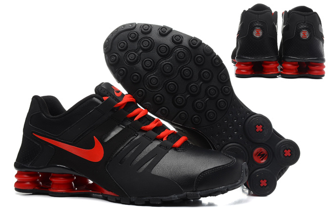 Nike Shox Current Shoes Black Red
