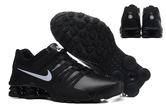 Nike Shox Current Shoes Black White Logo