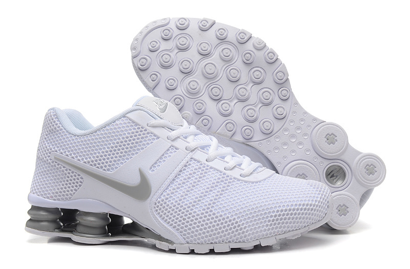 Nike Shox Current Mesh All White Shoes
