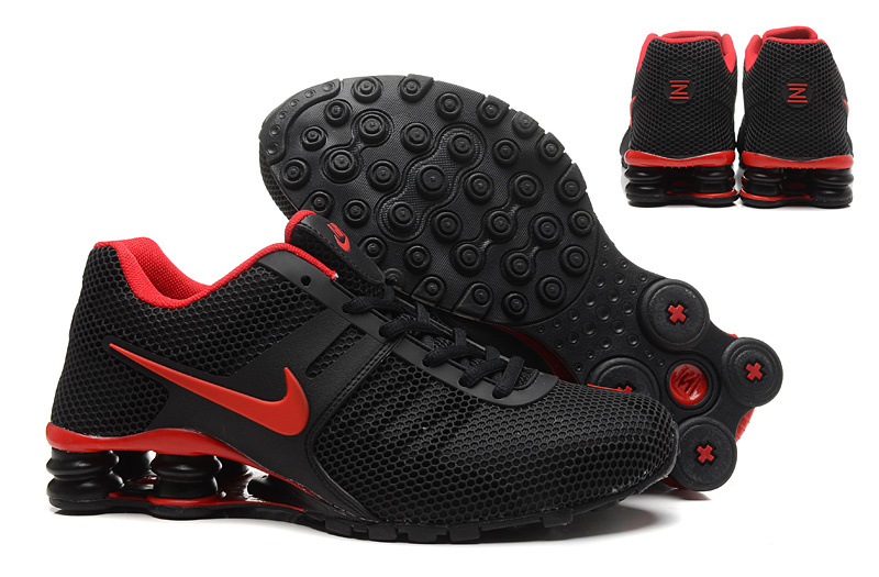 Nike Shox Current Mesh Black Hot Red Shoes