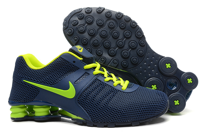 Nike Shox Current Mesh Dark Blue Fluorscent Shoes