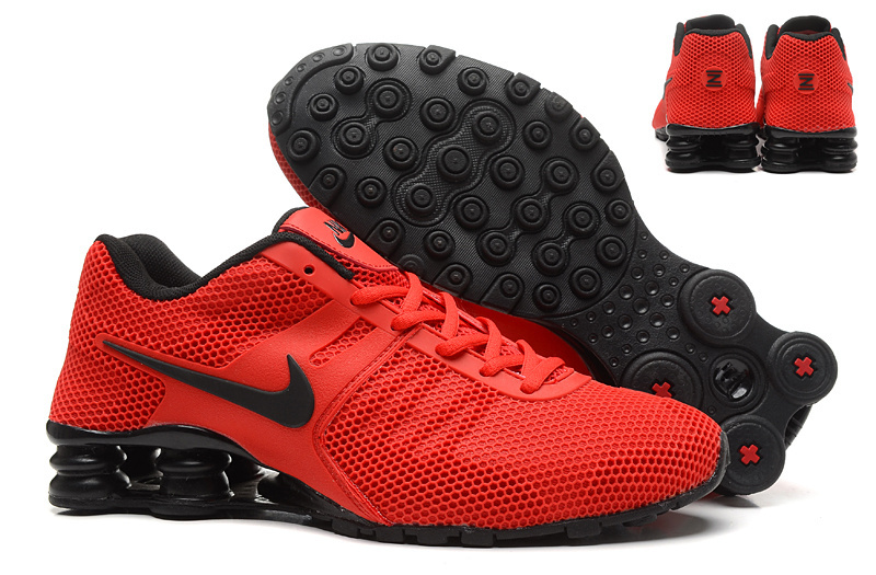 Nike Shox Current Mesh Red Black Shoes