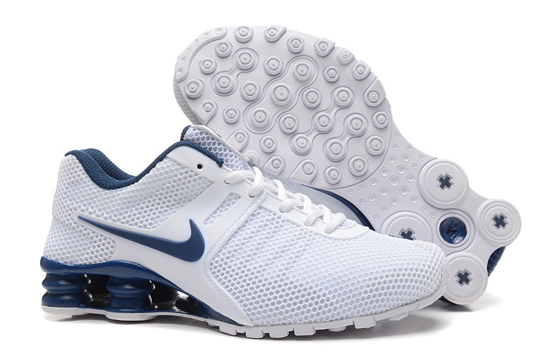 Nike Shox Current Mesh White Blue Shoes