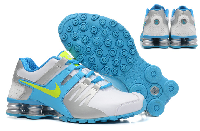 Women Shox Current White Blue Grey Green Shoes
