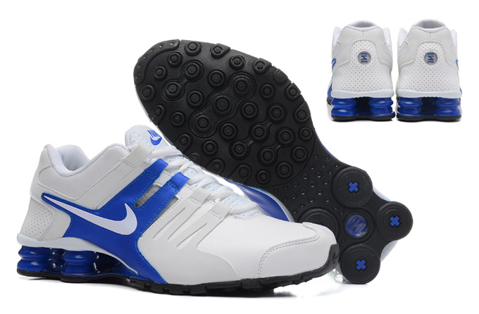Nike Shox Current Shoes White Grey Blue