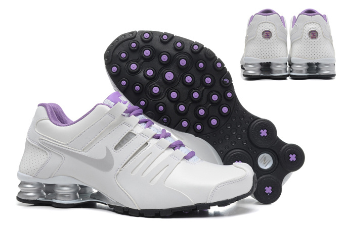 Women Shox Current White Silver Purple Shoes
