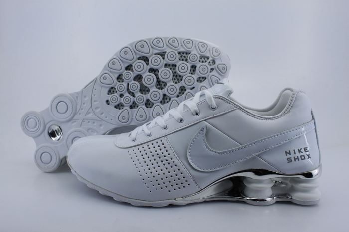 Women Nike Shox OZ D All White Shoes