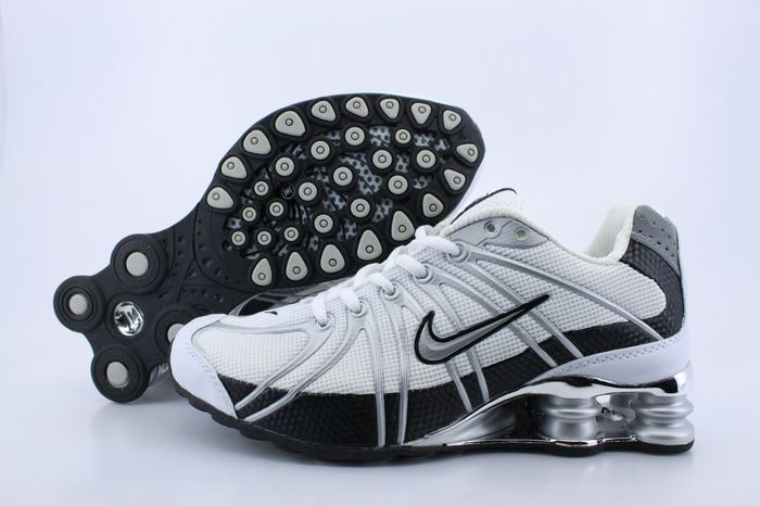 Women Nike Shox OZ White Black Grey Logo Shoes