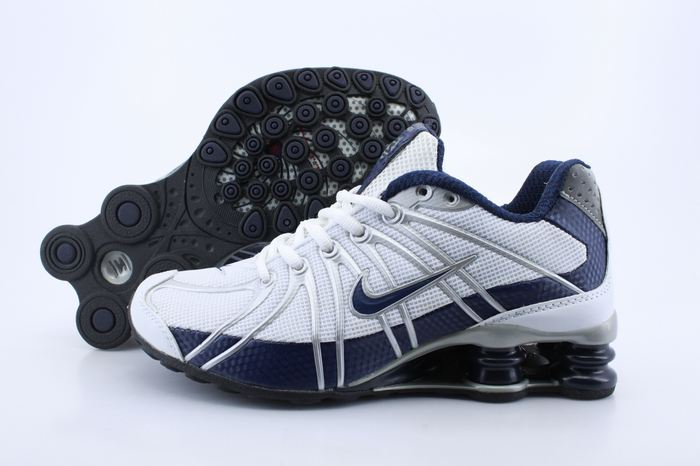 Women Nike Shox OZ White Blue Shoes