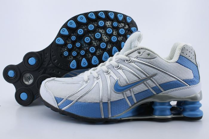 Women Nike Shox OZ White Light Blue Shoes