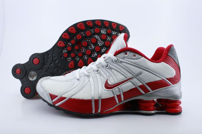 Women Nike Shox OZ White Red Grey Shoes