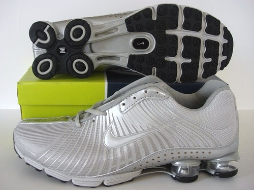 Functional Nike Shox R1 Al Silver Shoes