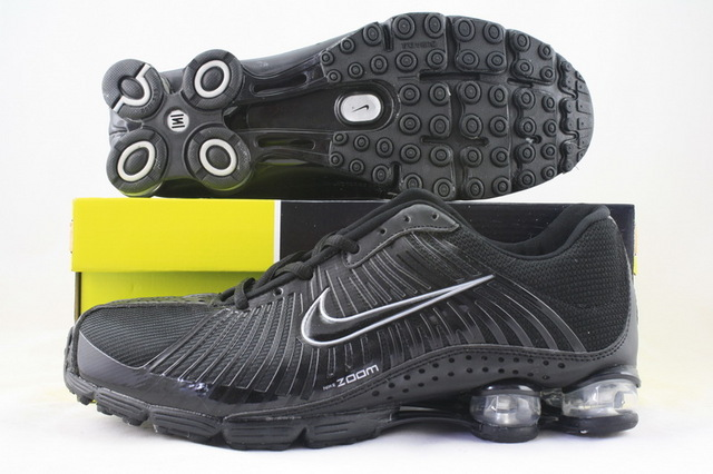 Functional Nike Shox R1 All Black Shoes