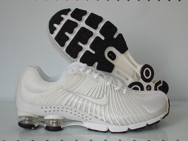 Functional Nike Shox R1 All White Flywire Shoes