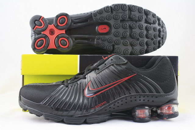 Functional Nike Shox R1 Black Red Shoes