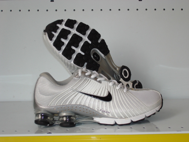 Nike Shox R1 White Grey Black Running Shoes