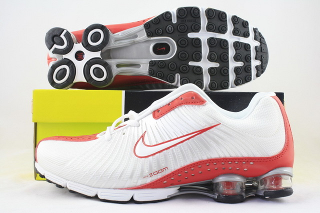 Nike Shox R1 White Red Nike Swoosh Running Shoes