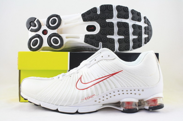 Nike Shox R1 White Red Running Shoes