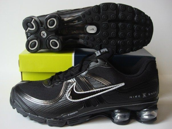 Nike Shox R2 All Black Running Shoes
