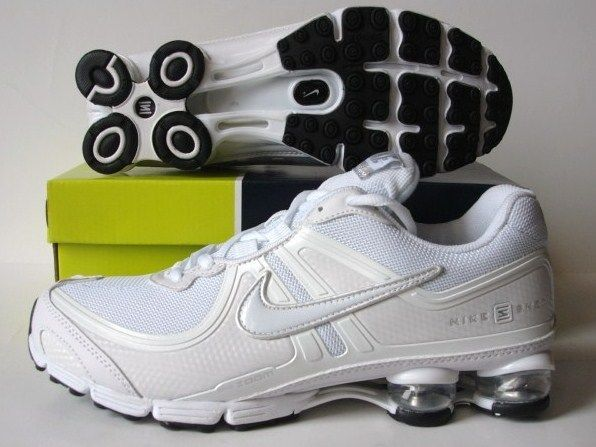 Nike Shox R2 All White Running Shoes