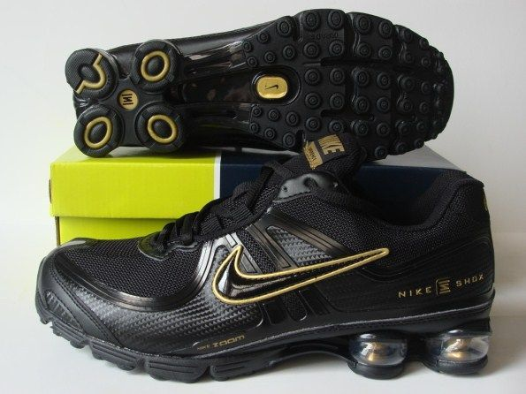 Nike Shox R2 Black Gold Running Shoes