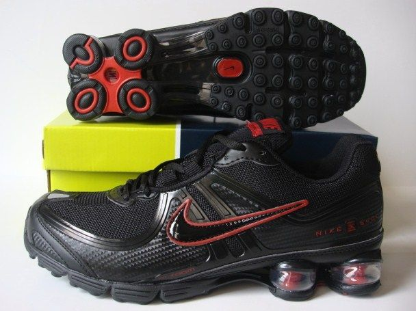 Nike Shox R2 Black Red Running Shoes