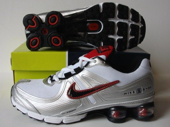 Nike Shox R2 Grey Silver Red Running Shoes