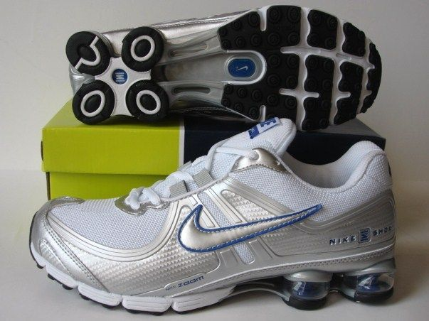 Nike Shox R2 Silver White Running Shoes