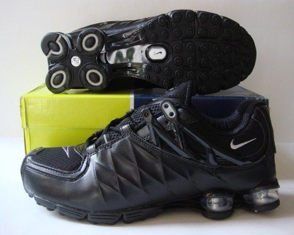 Stylish Shox R3 All Black Shoes