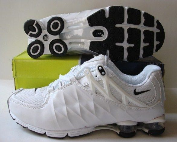 Stylish Shox R3 All White Black Logo Shoes