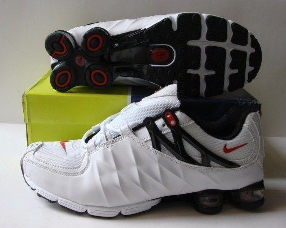 Stylish Shox R3 White Black Shoes
