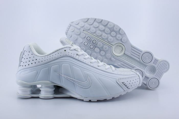 Real Shox R4 Shoes All White