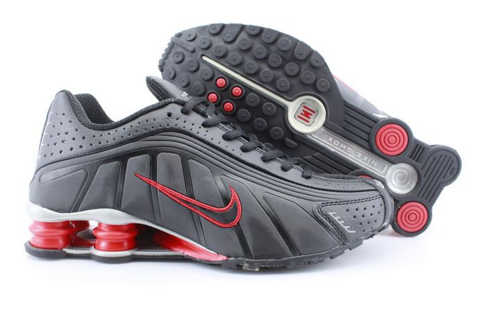 Real Shox R4 Shoes Black Red
