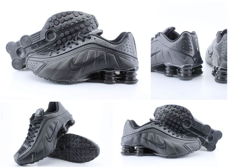Women Nike Shox R4 All Black Shoes