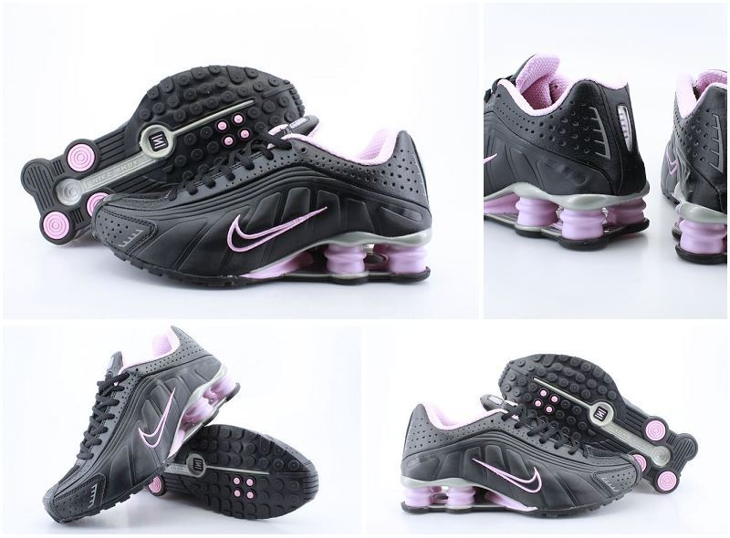 Women Nike Shox R4 Black Pink Shoes