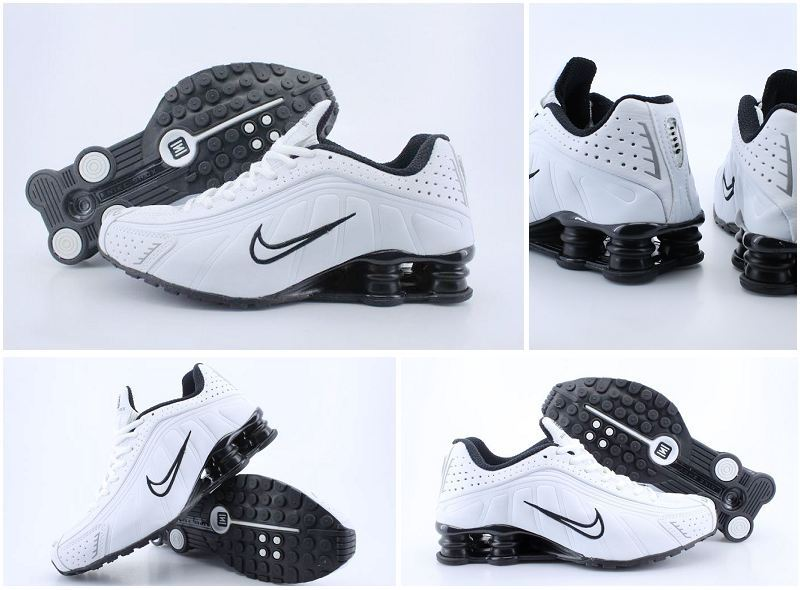 Women Nike Shox R4 White Black Shoes