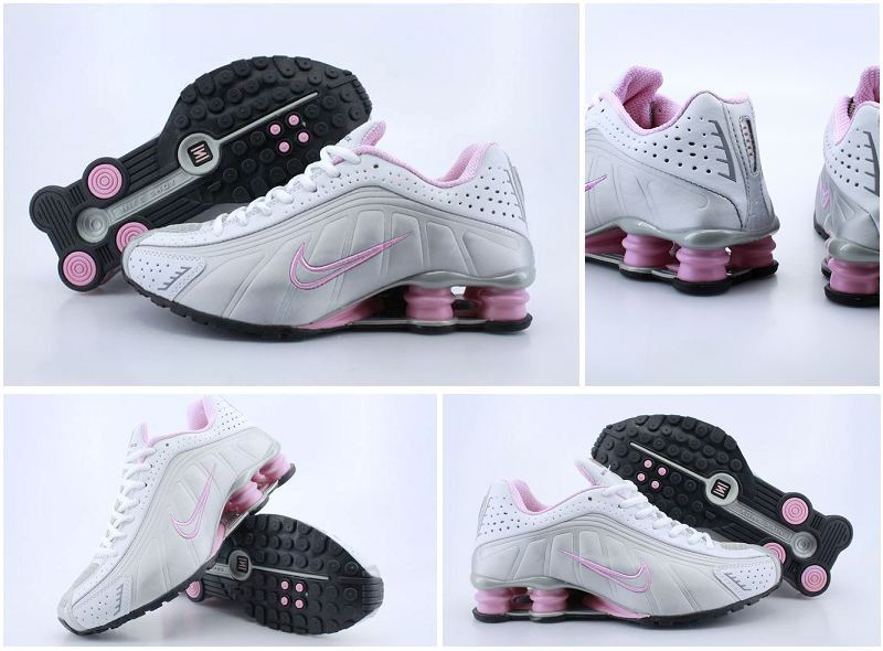 Women Nike Shox R4 White Grey Shoes