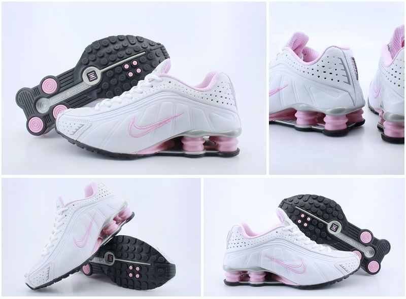 Women Nike Shox R4 White Pink Shoes