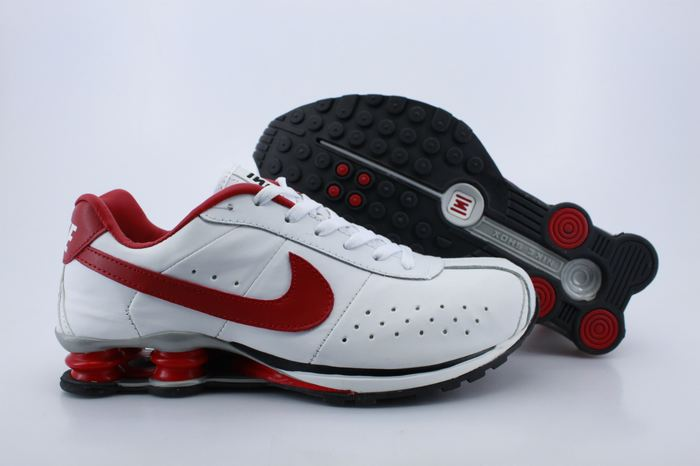 Nike Shox R4 Shoes White Red Big Swoosh