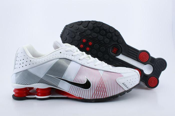 Nike Shox R4 Shoes White Red Grey Black Swoosh