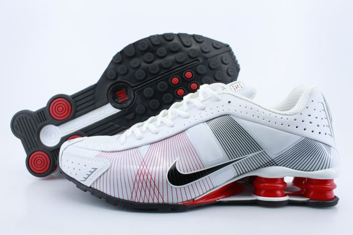 Nike Shox R4 Shoes White Red Grey Black Swoosh