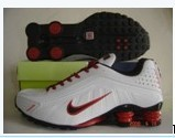 Nike Shox R4 Shoes White Red