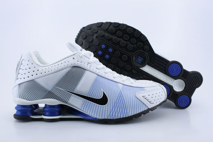 Nike Shox R4H White Blue Grey Shoes